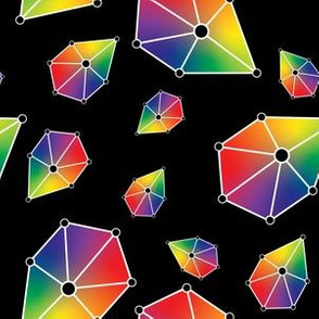 Geometric Jewels Gradient Rainbow Gem Diamond Triangle