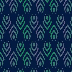 Abstract Arrows Purple Green Gradient Herringbone Shapes