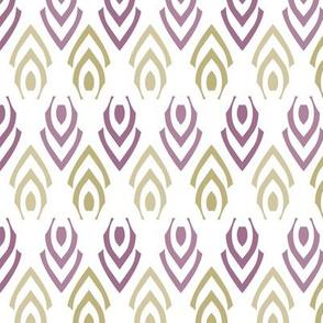 Abstract Arrows Purple Gold Diamond Jewelry Shape Layout