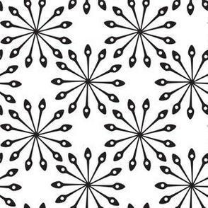 Spoon Mandala Circle Shaped Abstract Black White