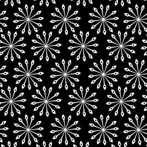 Mandala Spoons Circle Shaped Abstract White Black Stars