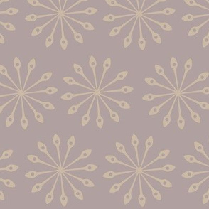 Neutral Toned Mandala Kitchen Spoon Shape Flowers