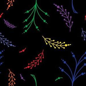 Organic Flowering Circle Plant Rainbow Branches
