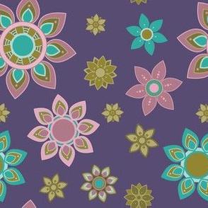 Purple Pinks and Tans Mandala Flower Girl Power
