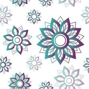 Floral Mandalas Blue and Purple