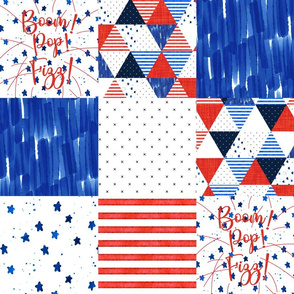 """6"""" squares: 4th of July Patchwork Wholecloth"""