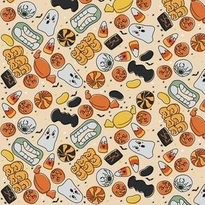 Micro Vintage Halloween Treats on Tan