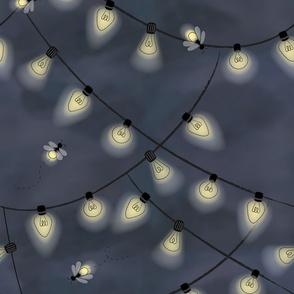 String of fireflies