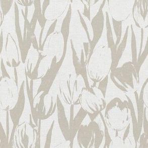 Beige Abstract Tulip Bloom