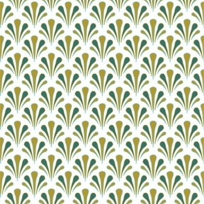 Art Deco Shells Yellow and Green