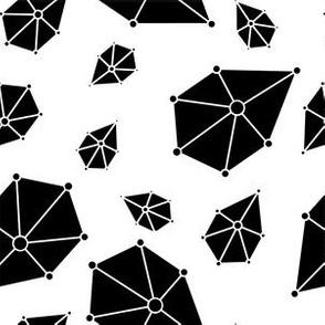 Geometric Jewels Black and White