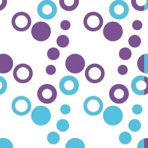 Aqua and Purple Circles