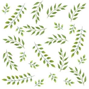 Summer green leaf pattern