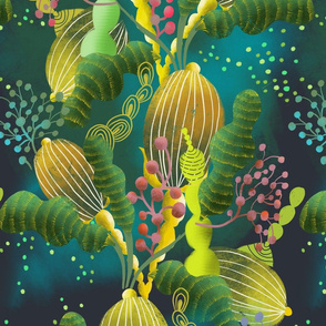 magic underwater plants // large