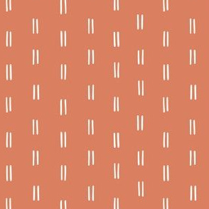 mini micro // burnt dusty orange parallel lines horizontal lines mud cloth simple fabric gift wrap wrapping paper wallpaper