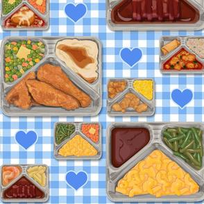 TV Dinner Pattern_Blue Hearts