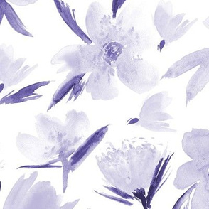 Lavender spring in Venice - large scale watercolor blush flowers for modern home decor_ bedding_ nursery p286