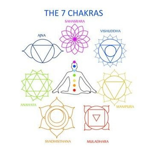 The 7 chakras of the human body