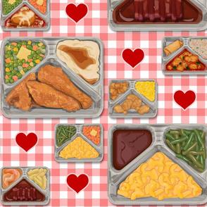 TV Dinner Pattern_Red Hearts