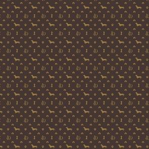 Louis Luxury Mini Dachsund Dog Attire Print