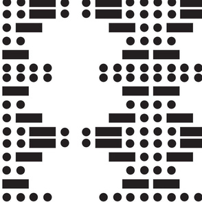 Morse code Faith - Modern abstract geometric in black and white
