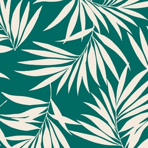 Tiki Tropics Palm Branch- Emerald Green