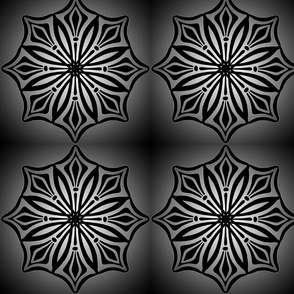 Radial Points 1 Dark Grey