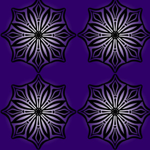 Radial Points 1 Purple