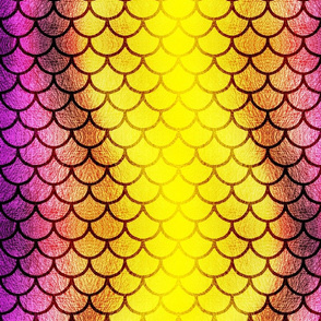 Yellow and Purple Dragon Scales