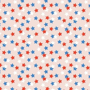 Little stars sparkles sky USA abstract boho nursery design blue red