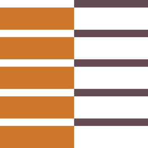 Staggered Stripe - pumpkin/cocoa
