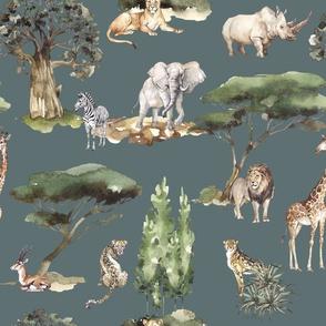 jungle animals eucalyptus