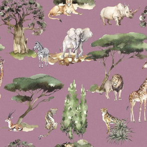 jungle animals lavender linen