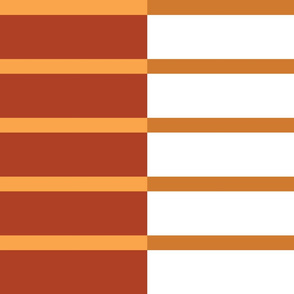 Staggered Stripe - terracotta/clay