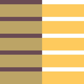 Staggered Stripe - wet sand/gold