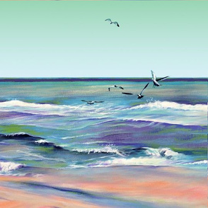seashore envy quilt square