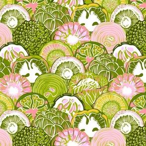 Veggies | Green + Pink