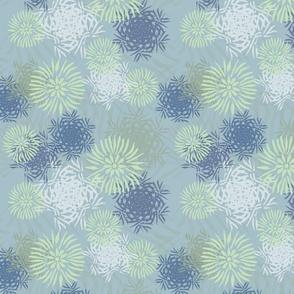iceflowers blue