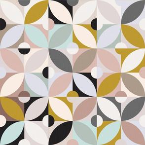 Modern Tile in Pastels Neutrals No1 / Big Scale