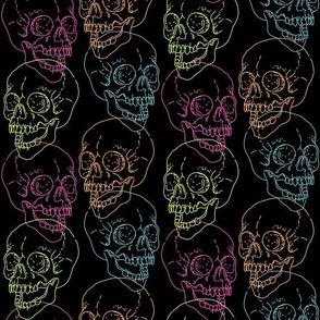 x-ray skulls black