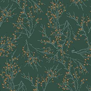 twigs of thuja green