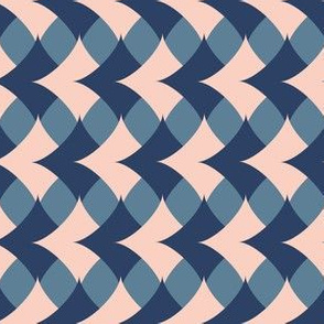 Geometric Diamonds  in pink and blue