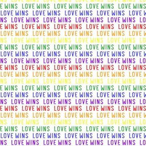 (small scale) Love Wins - rainbow - PRIDE - LGBTQ - LAD20