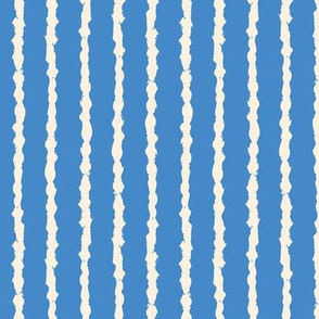 Painted lines blue