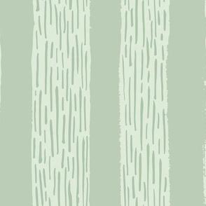 Rainy day stripes green tones