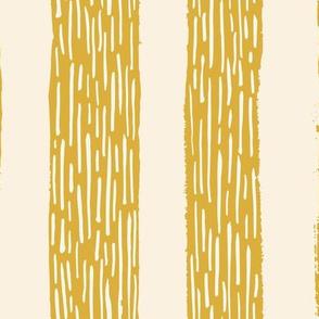 Rainy day stripes in mustard