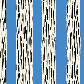 Rainy day stripes in blue