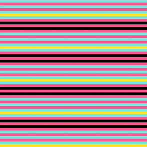 half inch crazy bright stripes