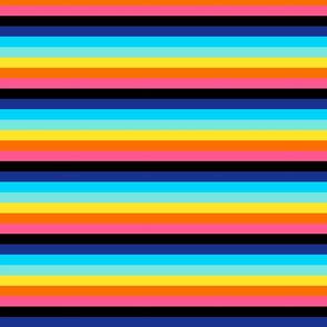 half inch funky bright stripes