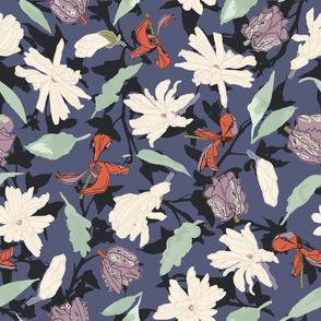 Tulip and Magnolia Spring dark luxe